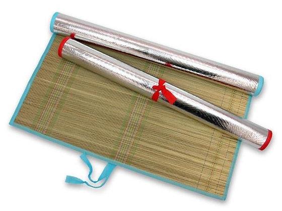 Esterilla con fondo plateado 60x170cm Athand