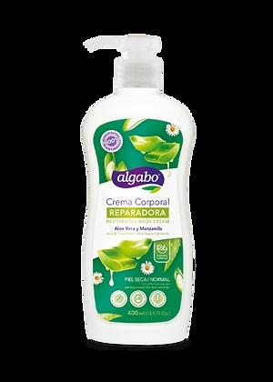 Crema corporal aloe y manzanilla 400ml Algabo 6060415