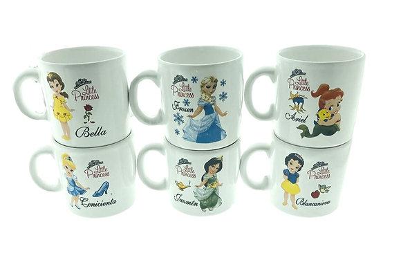 Jarro mug ceramica Princesas Lomas