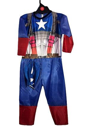 Disfraz de tela Capitan America