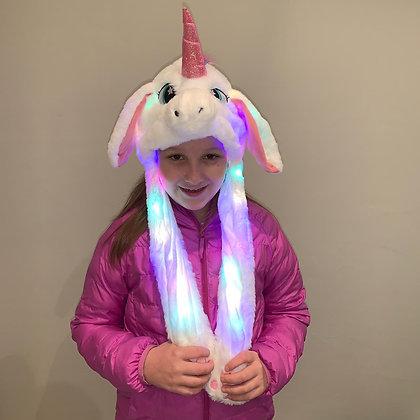 Gorro unicornio con luz y movimiento en la orejas TR