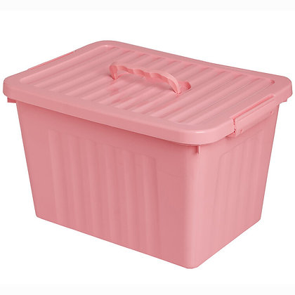 Caja organizadora pastel con traba y manija 24 litros 38x28x22cm Cerri
