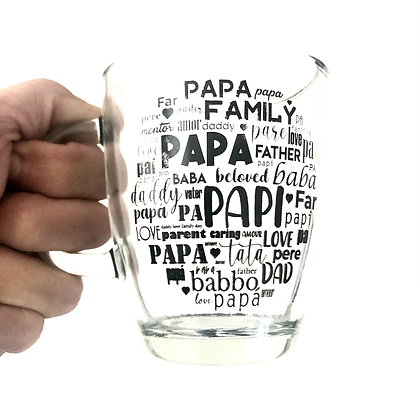 Jarro amanecer de vidrio 370cc Rigolleau estampado Día del Padre Flow