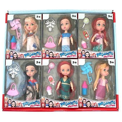 Muñeca baby Princesas con accesorios TR JU-4086