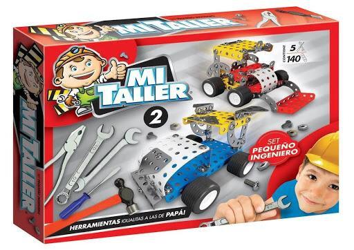 Set pequeño ingeniero Mi Taller 140 piezas 5 herramientas art 1112 35x25X5CM