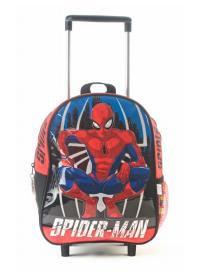 "Mochila Spider Man  c/carro 12"" original Wabro art 87001"