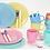 Thumbnail: Juego de 28 piezas vidrio color Soft  Carol art 4035
