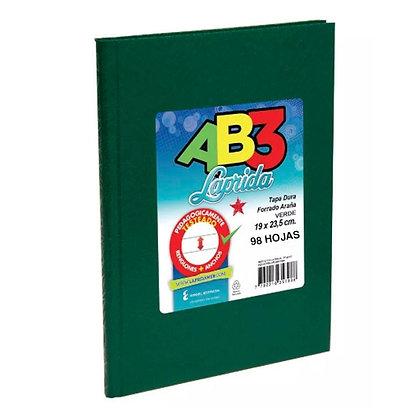 Cuaderno Laprida AB3 19x23,5cm 100hojas tapa dura azul,rojo,verde