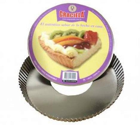 Pasta Frola desmontable s/p 30cm Graciela art 174/00