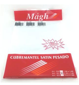 Cubremantel Satin pesado transparente 2.20x1.4mt Magh art 021