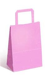 Bolsa de madera rosa pastel 30x12x32