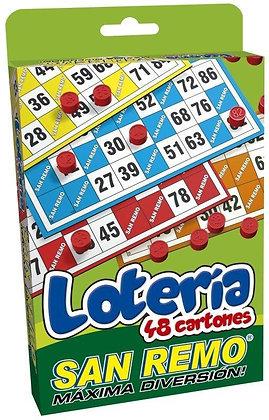 Loteria de lujo 48 cartones San Remo art 34482
