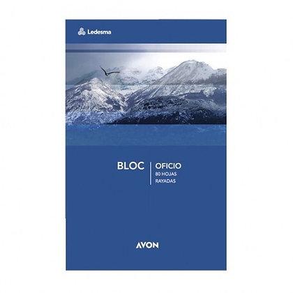 Block Oficio rayado Avon 80hjs emblocado