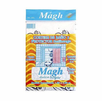 Cortina de baño y protector con ganchos Magh art 013