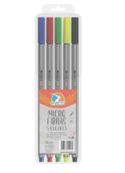 Microfibras 0.4mm x 5 colores clasicos Ezco
