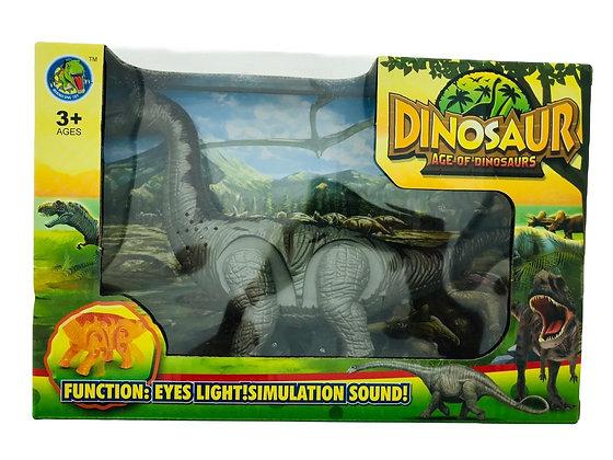 Dinosaurio a pila con movimientos y sonido y luz 26x17cmcm Sebigus art 360228