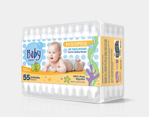 Baby hisopos x 55 unidades Algabo art 3369030