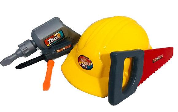Juego de herramientas c/casco Rayabo art 9469