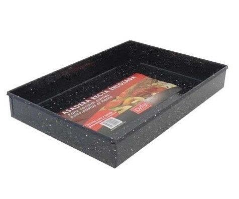 Asadera rectangular recta 33x23cm enlozada N3 Jovifel art 1951
