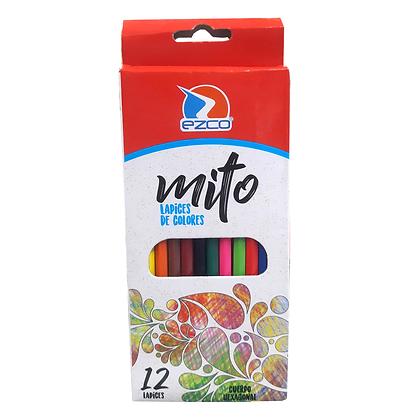 Lapices colores largos Mito x12 Ezco