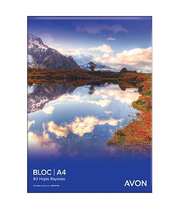 Block A4 rayado Avon 80hjs emblocado