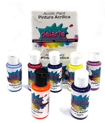 Pintura acrílica Delarte 50 cc varios colores