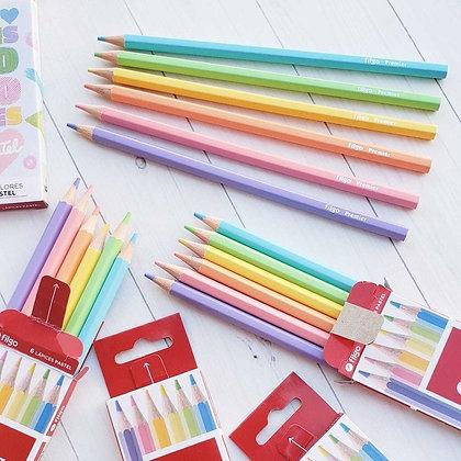 Lápiz color pastel x 6 Filgo