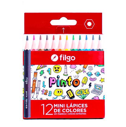 Lapices de colores cortos x 12 Filgo