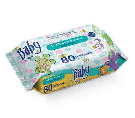 Baby toallitas wipes x80 Algabo 3362003