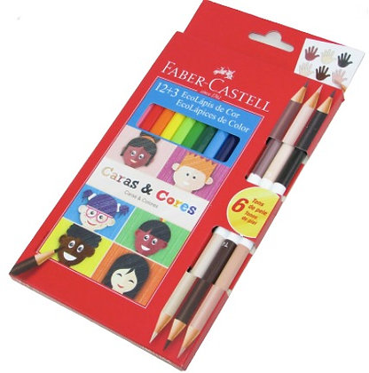 Lapices Faber Castell largos x 12+3 duos