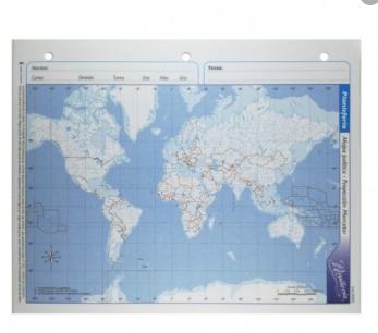 Mapa politico Planisferio n3 Alfa Gloss