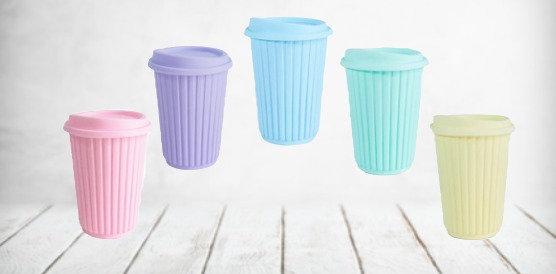 Vaso rayado silicona Pastel Cliker