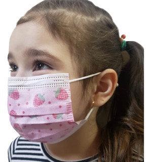 Barbijos importados tricapa infantiles