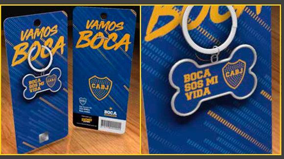 Medalla hueso para perro original Demo Fútbol