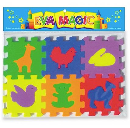 Cubo encastrable con figuras Eva magic art 70