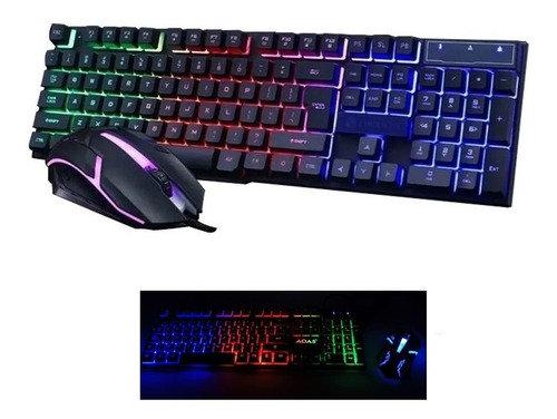 Combo teclado y mouse Gamer retroiluminado RGB en español Aoas M-300 TR EL-3