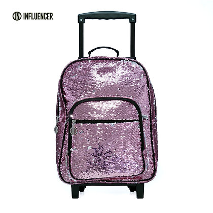"Mochila con carro 17"" LSYD Influencer Sequin art 94.9801"