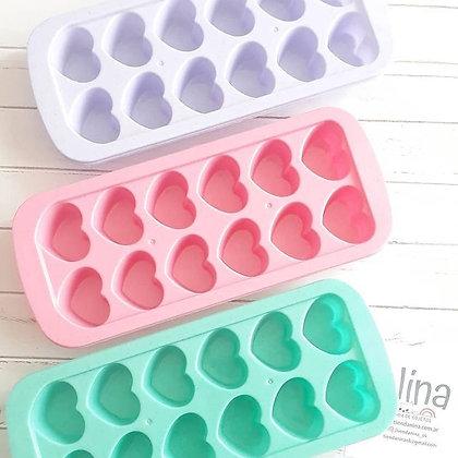 Cubetera corazón color pastel