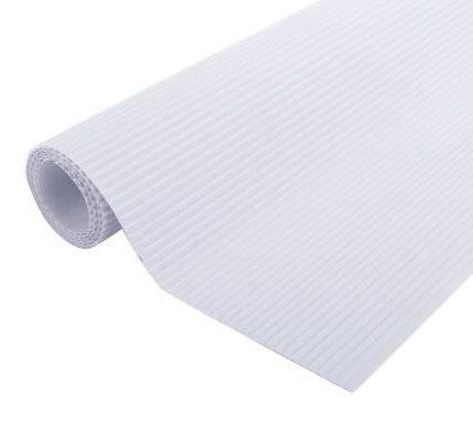 Carton corrugado blanco 50x70cm