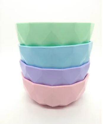 bowl facetado mediano pastel Cliker