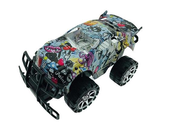 Camioneta grafitti a friccion chica 14x7,5cm Sebigus art 60221