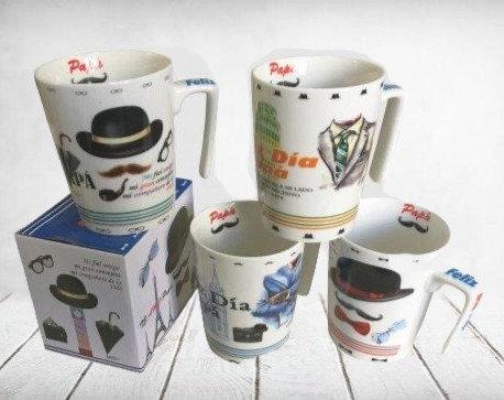 Jarro mug porcelana grande Dia del Padre en caja