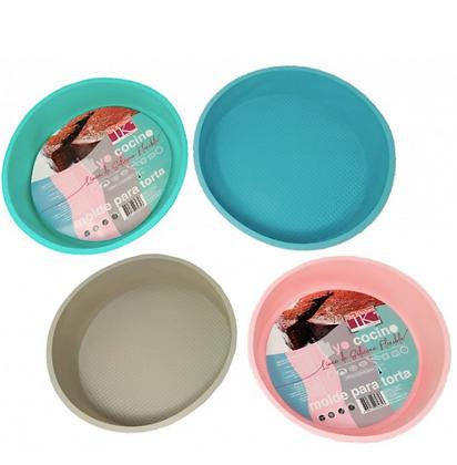 Molde para torta 25cm silicona colores pastel TK