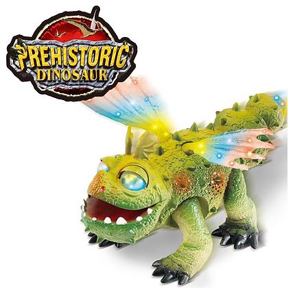 Dragon con Luz y sonido 30x16cm caminador Pumy art 55540