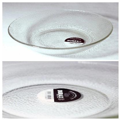 6 platos playos vidrio 22cm Forjado Durax