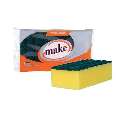 Esponja con fibra reticulada Make