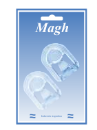 Percha capilla mediana x 2 cristal Magh art 1365
