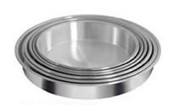 Tortera de aluminio n24 Almandoz altura 4,5cm