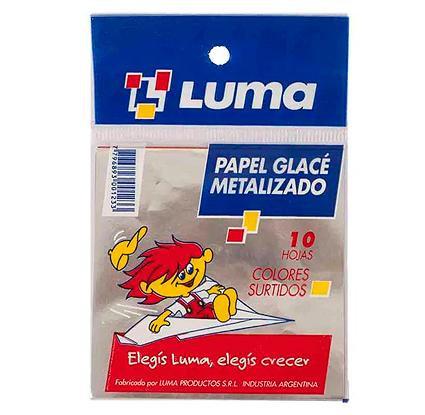 Papel glase metalizado Luma x10 hojas