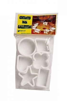 Cortante para galletitas x 6 Mplast